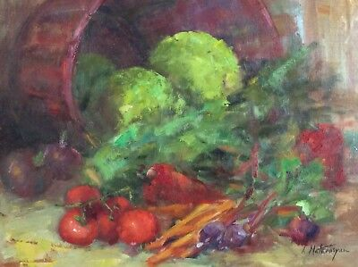 "Original Oil Painting 16""x20"" Impressionism Still Life Artist Signed 2000-Now"
