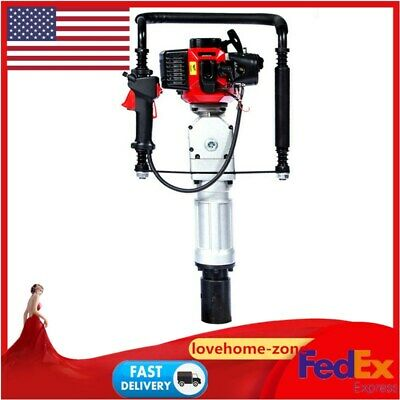 Gas Powered 52CC 2Stroke 1900W Post Pile Driver Gasoline Engine Push Fence Farm