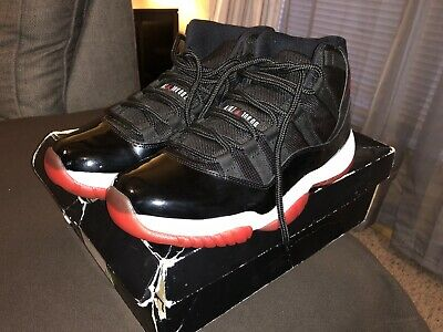 new product 7b8ce 4eb16 2012 NIKE AIR JORDAN XI 11 RETRO BRED BLACK RED WHITE Size 10! 378037-