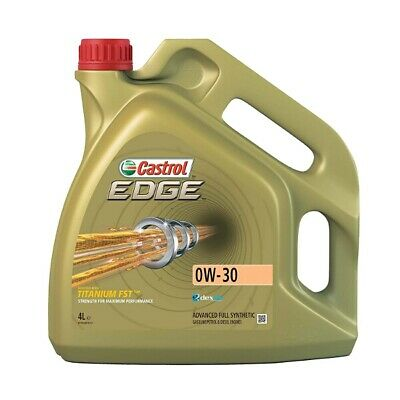 4 Litres 4L Castrol Edge 0W30 Fully Synthetic Engine Oil VW Mercedes & Longlife