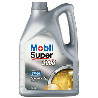 5 Litres 5L Mobil Super 3000 X1 FE 5W30 Fully Synthetic Engine Oil Ford Spec