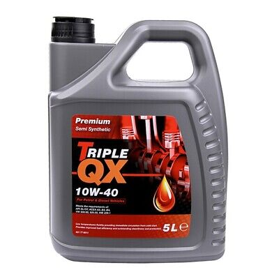 5 Litres 5L Triple QX Premium 10W40 Part Semi Synthetic Engine Oil- A3 B3 B4