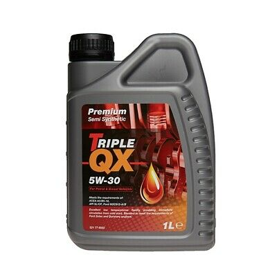 1 Litre 1L Triple QX 5W30 Semi Synthetic Car Engine Oil Multigrade