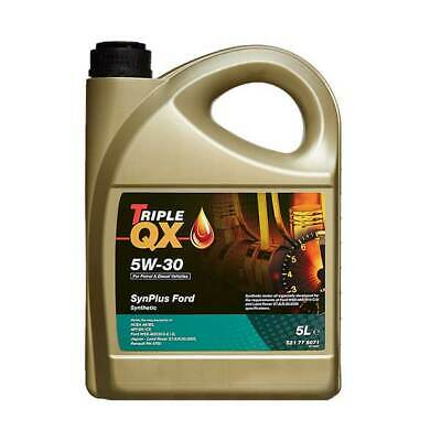 5 Litres 5L Triple QX SynPlus 5W30 Fully Synthetic Car Engine Oil Ford Spec