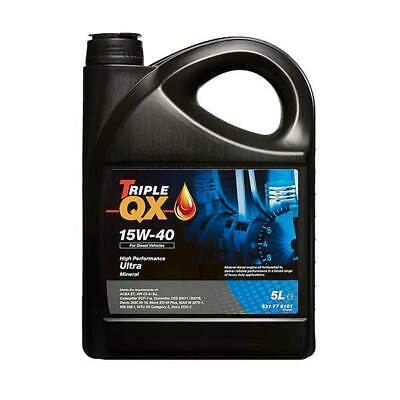 5 Litres 5L Triple QX Ultra 15W40 Mineral Motor Car Engine Oil ACEA A3 B3 E2