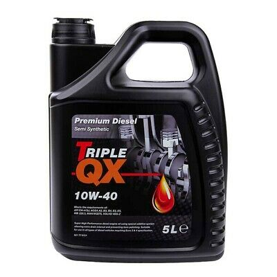 5 Litres 5L Triple QX 10W40 Diesel Semi Synthetic Car Engine Oil Multigrade