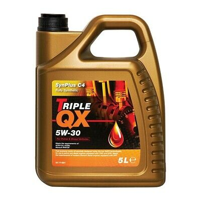 5 Litres 5L Triple QX SynPlus Fully Synthetic 5W30 C4 Car Motor Engine Oil
