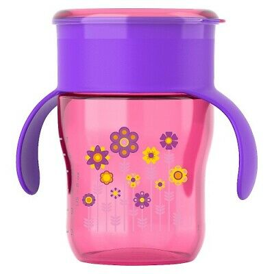 Philips Avent BPA Free My First Big Kid Cup 360degree, 9m+  9 Oz Pink SCF782/54