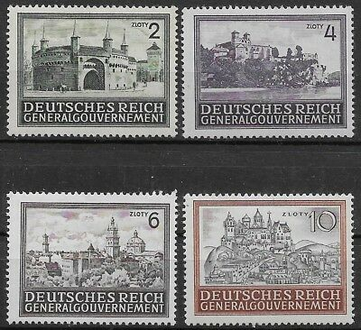 General Government Occupied Poland Mi # 113-115 1943/44 MNH **