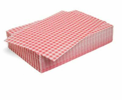"Duplex Red Gingham Wrapping Sheets 10"" x 15"" (2024 pack)"