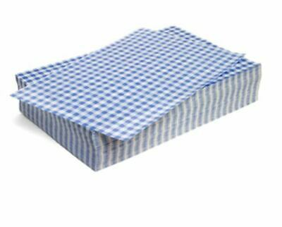 "Duplex Blue Gingham Wrapping Sheets 10"" x 15"" (2024 pack)"