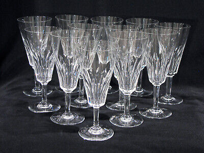 "12 Baccarat 6 1/4"" Champagne Or Wine Stems - Val De Loire - Signed"
