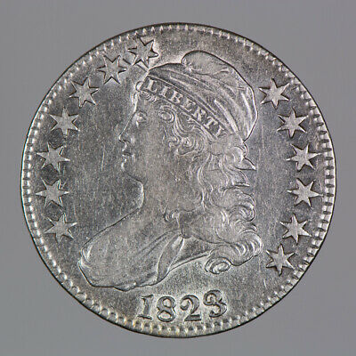 1823 50c CAPPED BUST HALF DOLLAR LOT#E960