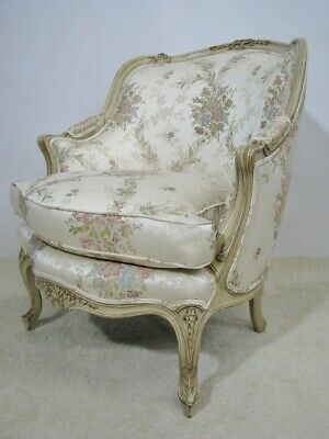 Baker Furniture French Louis Xv Style Bergere Chair Mint Condition