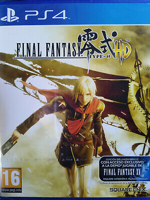 Final Fantasy Type-0 Hd. Juego Para Playstation 4 Ps4. Nuevo, Precintado.