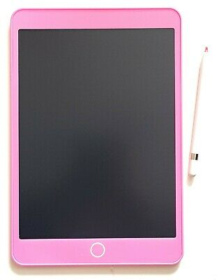 "Pink 10.5"" LCD Writing Tablet with Pen Kids Child Drawing Board Art Craft"