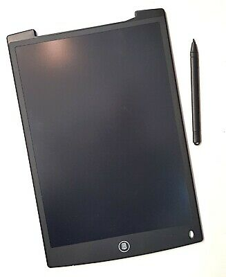 "Black 12"" LCD Writing Tablet with Pen Drawing Board Art Craft Adult Kids"