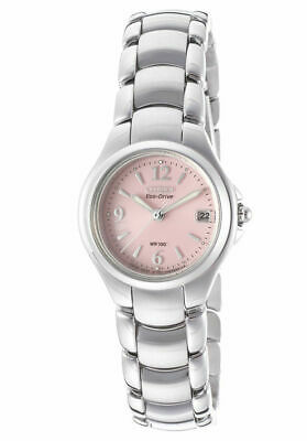 Citizen Women's Eco-Drive Stainless Steel Komen Pink Dial Watch EW1170-51X