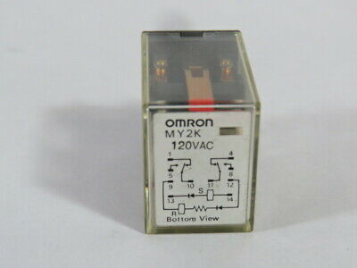 Omron MY2K-AC120 Relay 120VAC  USED