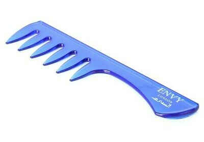 Envy London Barber Comb Texture Professional Hairdressing Combs BLUE Texuriser