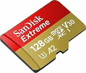SanDisk Extreme MicroSDXC 160MBs UHSI Card with adapter 128GB SDSQXA1128GGN6MA