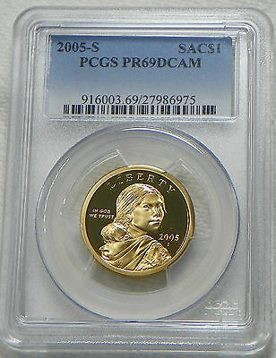 2005-S PROOF SACAGAWEA Native American Dollar PCGS PR69DCAM - FREE SHIPPING