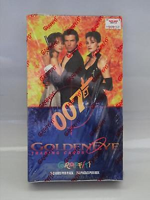 1995 Graffiti James Bond 007 Golden Eye Cards SEALED Box 36 Packs Pierce Brosnan