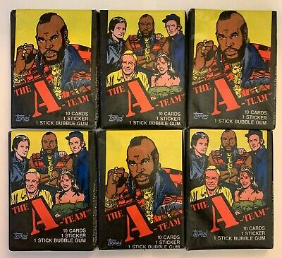 11 1983 Topps The A-Team Unopened Wax Packs