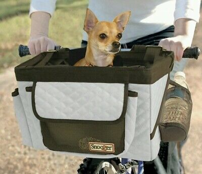 Snoozer Pet Bicycle Front Basket Carrier Seat For Bicycle Travel, Outdoor Riding