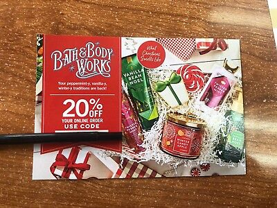 Bath and body works coupon 20% Off Online Order
