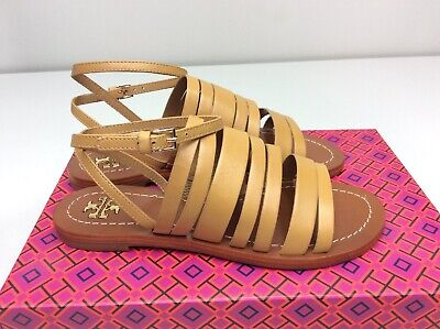 09cc65c4588 TORY BURCH PATOS ankle strap sandals Blond Leather size 5.5 Strappy ...