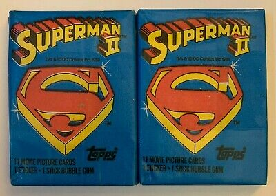 5 1980 & 1983 Topps Superman 2 & 3 Unopened Wax Packs
