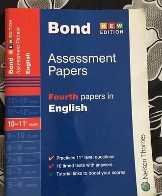 Bond English 11+ Assessment Papers 10-11+ Yrs Book 2