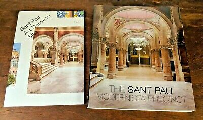 The Sant Pau Modernista Precinct PB Book and Art Nouveau Site Brochure Spain