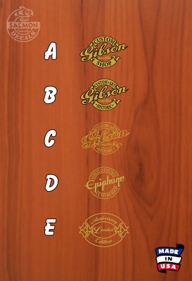 Gibson / Epiphone Custom Shop / Anniversary Limited Headstock Decal - Choose 1