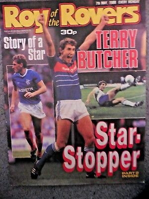 Roy Of The Rovers Comic 7/5/1988  Cover:- Terry Butcher Vintage Rare Vgc