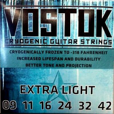 Vostok - Cryogenic Electric Guitar Strings - Made in USA - Extra Light - 09-42