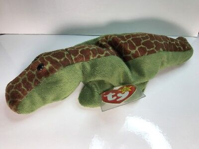 cac5af9dbff TY Beanie Baby - ALLY the Alligator - Pristine w  Mint Tags-PVC Pellets