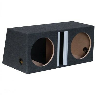 "Basstunnel Lautsprecher Subwoofer Bass Woofer MDF Box 2x 12"" 30cm 50L"