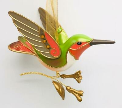 2018 Hummingbird Surprise Hallmark Ornament Gold Brown