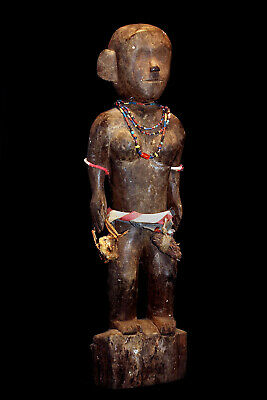 Palawan Tribe Antique Tribal Used 19Th Century Authentic Statue: Published!