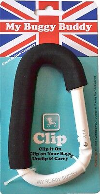 My Buggy Buddy White Clip ORIGINAL, safety tested.UK seller Stock sale NEW