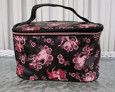 a019eb92c6 Disney Loungefly Floral Princesses Travel Train Case Makeup Cosmetic Bag NWT