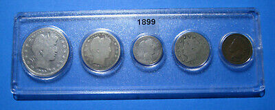 1899 US Coin Year Set 5 Coins 90% Silver