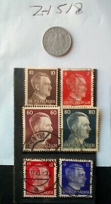 German Ww2 Stamps / Coin , Original, 1939 /45