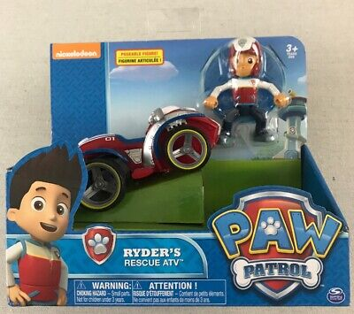 Original Paw Patrol Ryder's Rescue ATV Vehicle and Figure works with Patroller