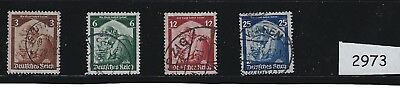 Nice Complete set / Saar returns to Third Reich Germany / 1935 cancelled  set