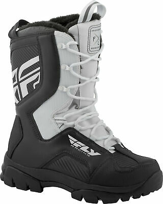 Fly Racing Marker Boots 8 Black/White 361-97408
