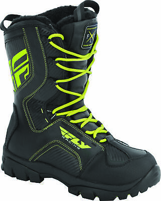 Fly Racing Marker Boots 14 Black/Hi-Vis 361-97814