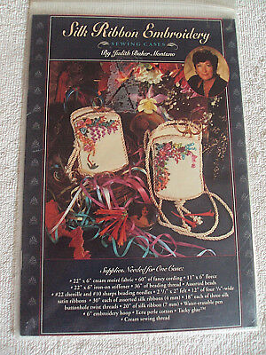 Silk Ribbon Embroidery Sewing Cases Pattern  by Judith Baker Montano  #